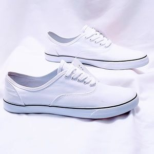 a new day Shoes - 🆕A.N.D. White canvas lace up sneakers size 11🦄
